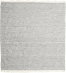 Melange - Szary Dywan 250X250 Nowoczesny Tkany Ręcznie Kwadratowy Jasnoszary Duży (Wełna, Indie)