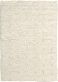 Romby - Off-White Dywan 160X230 Nowoczesny Tkany Ręcznie Beżowy/Ciemnobeżowy (Wełna, Indie)
