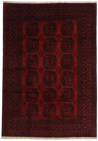 Afgan Dywan 197X284 Orientalny Tkany Ręcznie Ciemnobrązowy/Czerwony (Wełna, Afganistan)