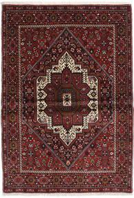 Gholtogh Dywan 103X146 Orientalny Tkany Ręcznie Ciemnoczerwony/Ciemnobrązowy (Wełna, Persja/Iran)