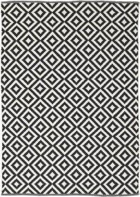 Torun - Czarny/Neutral Dywan 140X200 Nowoczesny Tkany Ręcznie Czarny/Jasnoszary (Bawełna, Indie)