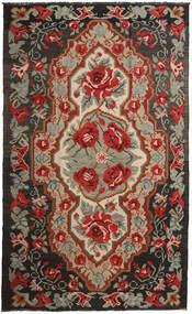 Kilim Rose Moldavia Dywan 191X317 Orientalny Tkany Ręcznie Ciemnoczerwony/Czarny (Wełna, Mołdawia)