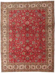 Tebriz Dywan 289X382 Orientalny Tkany Ręcznie Ciemnobrązowy/Ciemnoczerwony Duży (Wełna, Persja/Iran)