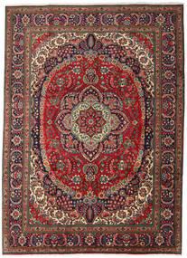 Tebriz Dywan 247X344 Orientalny Tkany Ręcznie Ciemnobrązowy/Ciemnoczerwony (Wełna, Persja/Iran)