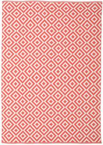 Torun - Coral/Neutral Dywan 140X200 Nowoczesny Tkany Ręcznie Czerwony/Jasnoróżowy (Bawełna, Indie)