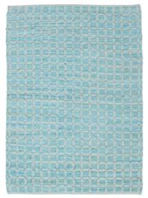 Elna - Bright_Blue Dywan 200X300 Nowoczesny Tkany Ręcznie Jasnoniebieski/Turkusowy Niebieski (Bawełna, Indie)