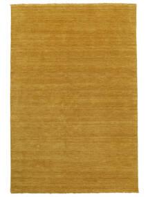 Handloom Fringes - Żółty Dywan 100X160 Nowoczesny Jasnobrązowy/Pomarańczowy (Wełna, Indie)