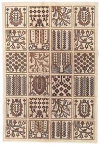 Tebriz Patina Dywan 120X175 Orientalny Tkany Ręcznie Beżowy/Brązowy/Jasnobrązowy (Wełna, Persja/Iran)