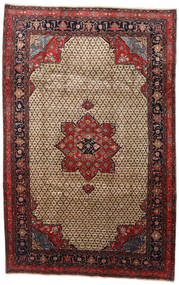 Songhor Dywan 206X322 Orientalny Tkany Ręcznie Jasnobrązowy/Czarny (Wełna, Persja/Iran)