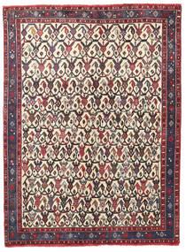 Afszar/Sirjan Dywan 127X168 Orientalny Tkany Ręcznie Ciemnobrązowy/Beżowy (Wełna, Persja/Iran)
