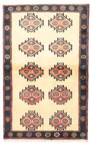 Kelardaszt Dywan 97X150 Orientalny Tkany Ręcznie Beżowy/Czarny (Wełna, Persja/Iran)