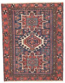 Heriz Patina Dywan 96X123 Orientalny Tkany Ręcznie Ciemnoszary/Rdzawy/Czerwony (Wełna, Persja/Iran)