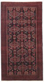 Beludż Patina Dywan 95X177 Orientalny Tkany Ręcznie Ciemnoczerwony/Czarny/Ciemnobrązowy (Wełna, Persja/Iran)