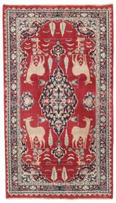 Meszhed Patina Dywan 104X182 Orientalny Tkany Ręcznie Czerwony/Ciemnoszary (Wełna, Persja/Iran)