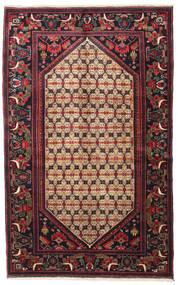 Koliai Dywan 128X207 Orientalny Tkany Ręcznie Ciemnobrązowy/Ciemnoczerwony (Wełna, Persja/Iran)
