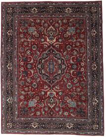 Meszhed Patina Dywan 304X398 Orientalny Tkany Ręcznie Ciemnoczerwony/Ciemnoszary Duży (Wełna, Persja/Iran)