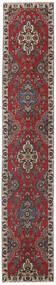 Tebriz Patina Dywan 80X430 Orientalny Tkany Ręcznie Chodnik Ciemnoczerwony/Ciemnobrązowy (Wełna, Persja/Iran)