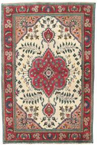 Tebriz Patina Dywan 95X145 Orientalny Tkany Ręcznie Beżowy/Czarny (Wełna, Persja/Iran)