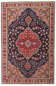 Tebriz Patina Dywan 98X150 Orientalny Tkany Ręcznie Ciemnoszary/Ciemnoczerwony (Wełna, Persja/Iran)