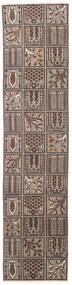 Baktjar Patina Dywan 70X305 Orientalny Tkany Ręcznie Chodnik Jasnoszary/Ciemnobrązowy (Wełna, Persja/Iran)