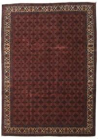 Bidżar Z Dodatkiem Jedwabiu Dywan 259X357 Orientalny Tkany Ręcznie Ciemnoczerwony/Ciemnobrązowy Duży (Wełna/Jedwab, Persja/Iran)