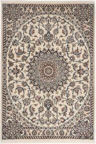 Nain 6La Dywan 98X141 Orientalny Tkany Ręcznie Jasnoszary/Beżowy (Wełna/Jedwab, Persja/Iran)