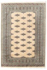Pakistański Bucharski 2Ply Dywan 127X185 Orientalny Tkany Ręcznie Beżowy/Jasnoszary (Wełna, Pakistan)