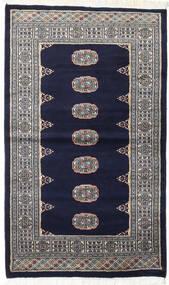 Pakistański Bucharski 2Ply Dywan 93X157 Orientalny Tkany Ręcznie Czarny/Jasnoszary (Wełna, Pakistan)