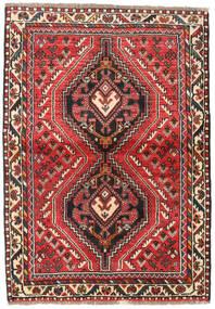 Sziraz Dywan 111X160 Orientalny Tkany Ręcznie Ciemnobrązowy/Rdzawy/Czerwony (Wełna, Persja/Iran)