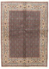 Moud Dywan 142X198 Orientalny Tkany Ręcznie Jasnoszary/Ciemnoczerwony (Wełna/Jedwab, Persja/Iran)