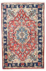Kashmar Dywan 88X138 Orientalny Tkany Ręcznie Beżowy/Ciemnofioletowy (Wełna, Persja/Iran)