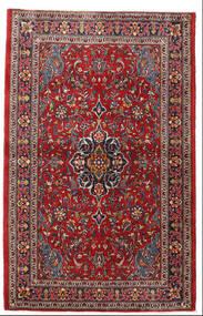 Saruk Dywan 105X165 Orientalny Tkany Ręcznie Ciemnoczerwony/Ciemnobrązowy (Wełna, Persja/Iran)