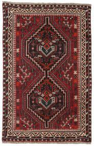 Sziraz Dywan 81X124 Orientalny Tkany Ręcznie Ciemnoczerwony/Ciemnobrązowy (Wełna, Persja/Iran)
