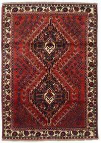 Sziraz Dywan 111X161 Orientalny Tkany Ręcznie Ciemnoczerwony/Czarny (Wełna, Persja/Iran)