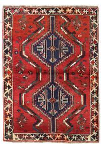 Sziraz Dywan 110X152 Orientalny Tkany Ręcznie Ciemnoczerwony/Rdzawy/Czerwony (Wełna, Persja/Iran)