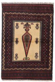 Beludż Dywan 88X126 Orientalny Tkany Ręcznie Ciemnoczerwony/Ciemnobrązowy (Wełna, Persja/Iran)