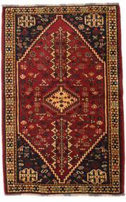 Kaszkaj Dywan 108X169 Orientalny Tkany Ręcznie Ciemnobrązowy/Ciemnoczerwony (Wełna, Persja/Iran)