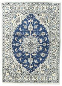 Nain Dywan 144X200 Orientalny Tkany Ręcznie Jasnoszary/Ciemnoniebieski (Wełna, Persja/Iran)
