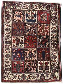 Baktjar Dywan 110X151 Orientalny Tkany Ręcznie Ciemnobrązowy (Wełna, Persja/Iran)