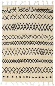 Beni Berber Dywan 180X275 Nowoczesny Tkany Ręcznie Beżowy/Ciemnoszary (Wełna, Indie)