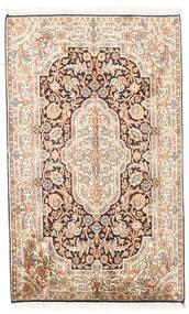 Kaszmir Czysty Jedwab Dywan 78X127 Orientalny Tkany Ręcznie Beżowy/Jasnobrązowy (Jedwab, Indie)