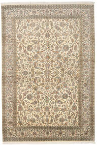 Kaszmir Czysty Jedwab Dywan 166X245 Orientalny Tkany Ręcznie Ciemnobeżowy/Beżowy (Jedwab, Indie)