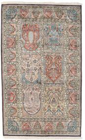 Kaszmir Czysty Jedwab Dywan 98X161 Orientalny Tkany Ręcznie Jasnoszary/Ciemnoszary (Jedwab, Indie)