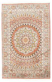 Kaszmir Czysty Jedwab Dywan 80X124 Orientalny Tkany Ręcznie Beżowy/Jasnoszary (Jedwab, Indie)