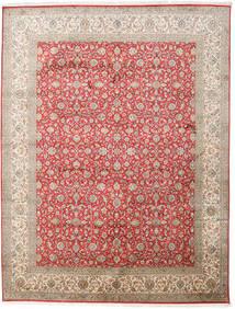 Kaszmir Czysty Jedwab Dywan 245X320 Orientalny Tkany Ręcznie Jasnoszary/Jasnobrązowy (Jedwab, Indie)