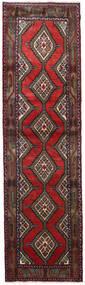 Hamadan Dywan 84X305 Orientalny Tkany Ręcznie Chodnik Ciemnoczerwony/Czarny (Wełna, Persja/Iran)