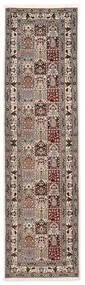 Moud Sherkat Farsh Dywan 80X300 Orientalny Tkany Ręcznie Chodnik Jasnoszary/Beżowy (Wełna/Jedwab, Persja/Iran)