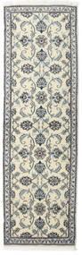 Nain Dywan 80X250 Orientalny Tkany Ręcznie Chodnik Ciemnoszary/Beżowy (Wełna, Persja/Iran)
