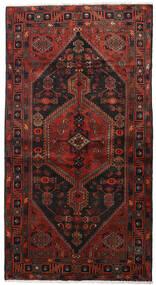 Hamadan Dywan 133X253 Orientalny Tkany Ręcznie Ciemnoczerwony/Czarny (Wełna, Persja/Iran)