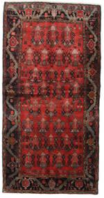 Hamadan Dywan 125X245 Orientalny Tkany Ręcznie Ciemnoczerwony/Ciemnobrązowy (Wełna, Persja/Iran)